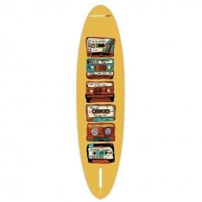 Deska SUP Gladiator Pro Art Audio 90th 10'8 z grafiką kaset